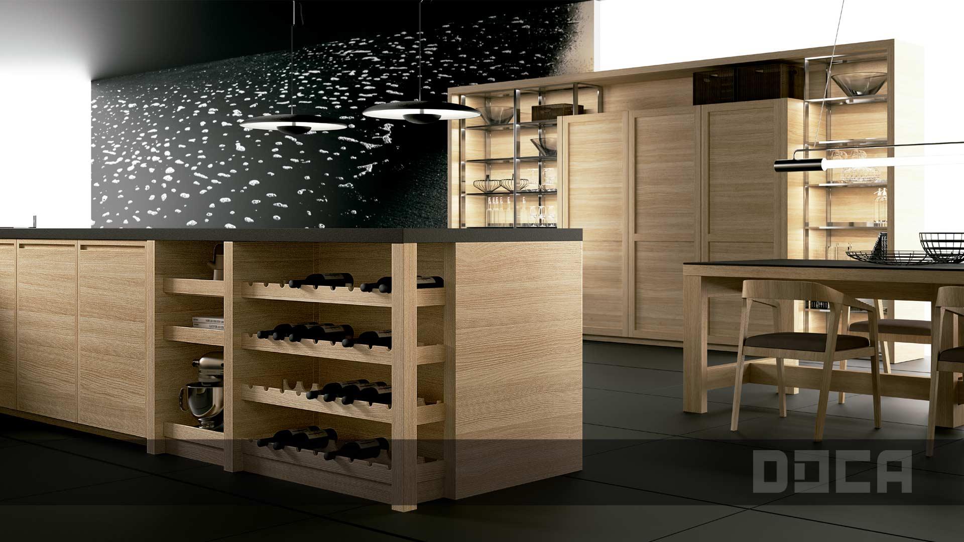 evolucion eiche natur wieland k chen einrichtung. Black Bedroom Furniture Sets. Home Design Ideas