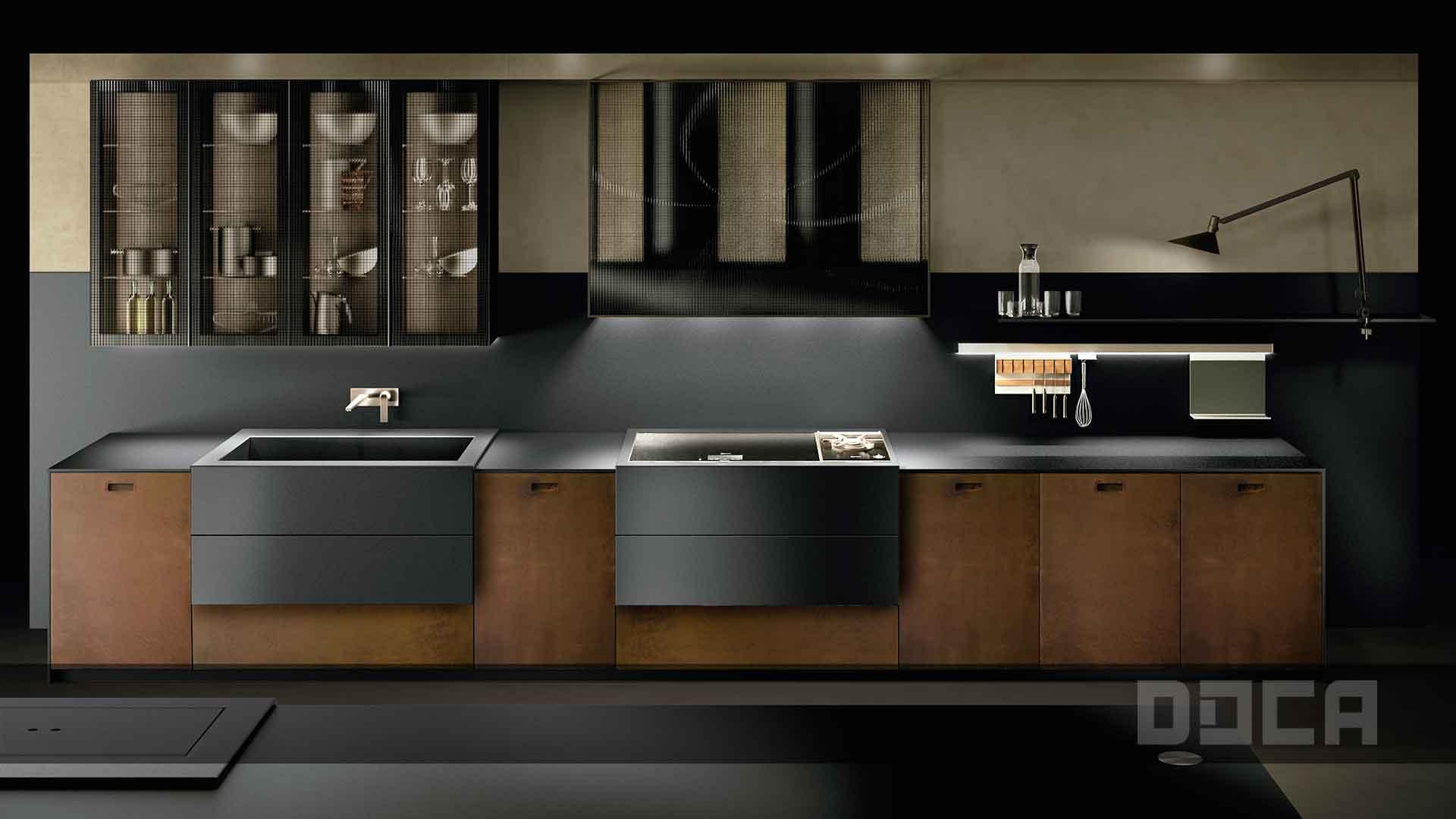oxide lackiert wieland k chen einrichtung. Black Bedroom Furniture Sets. Home Design Ideas